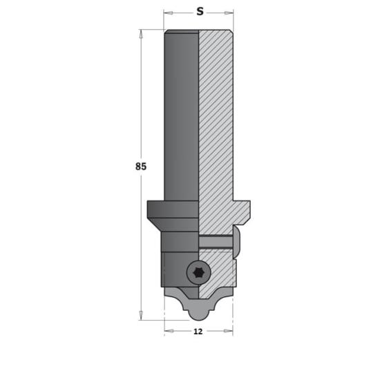 CMT Profilmaró szerszám marókés nélkül S=12