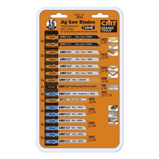 CMT 16 darabos ipari dekopír fűrészlap készlet