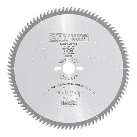 CMT ipari körfűrészlap tömör felületű anyagokhoz D=250/300x30