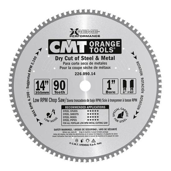 CMT Ipari száraz vágó körfűrészlap 355x25,4 Z90