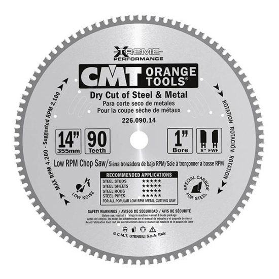 CMT ipari száraz vágó körfűrészlap B= 30 mm