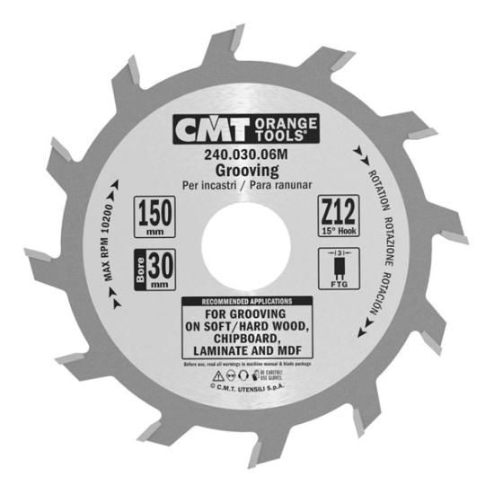 CMT Ipari, horonyvágó körfűrésztárcsa 150x30 Z12