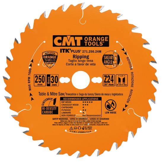 CMT ipari ITK PLUS hossz és keresztvágó fűrészlap
