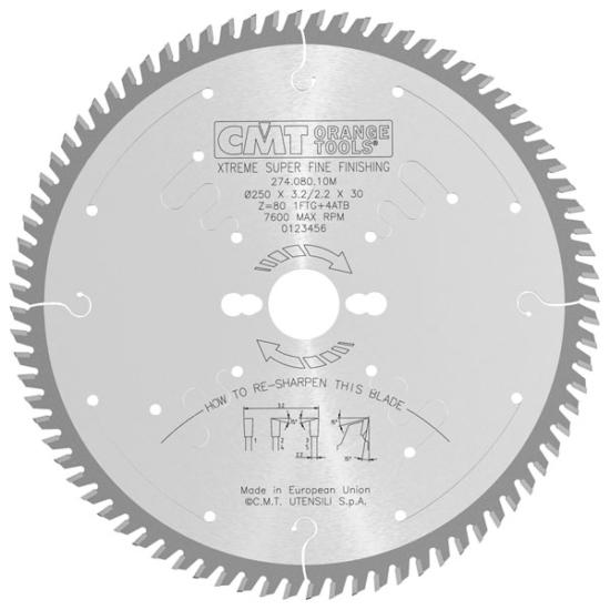 CMT ipari körfűrész, magas minőségű keresztvágáshoz