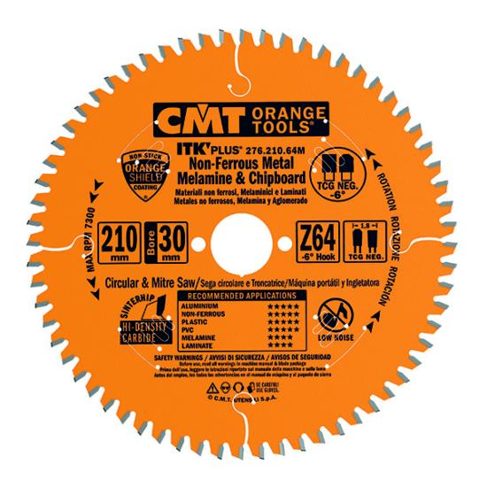 CMT ipari ITK PLUS Kompozit és színesfém vágó fűrésztárcsa