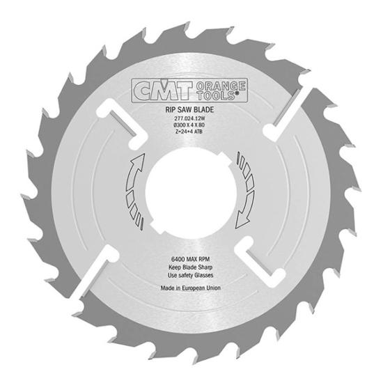 CMT ipari, vastagtengelyes hosszvágó fűrésztárcsa 300x30 Z24