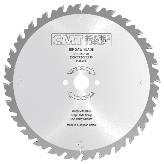 CMT ipari, visszacsapódás gátló fűrésztárcsa 300x70 Z28
