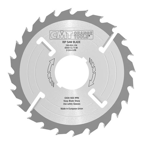 CMT vékony, ipari, sorozatvágó fűrésztárcsa D=180-300 B=40/70/80