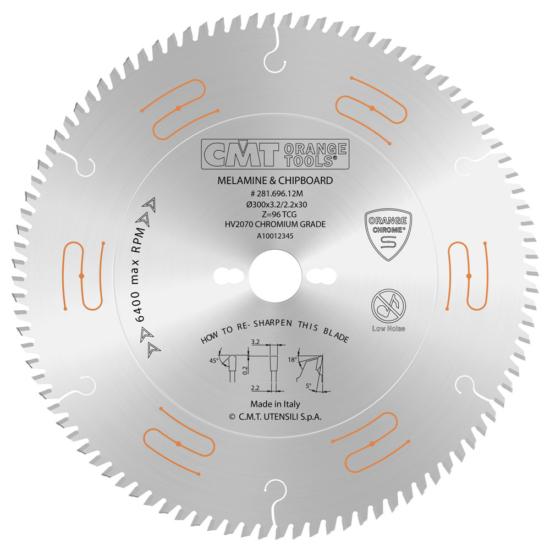 CMT Ipari extrém, krómozott körfűrésztárcsa negatív élszöggel D=220-300 B=30