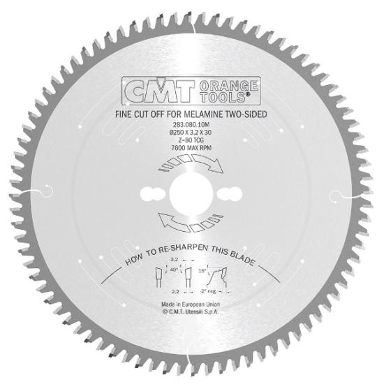 CMT ipari, zajcsillapított körfűrészlap
