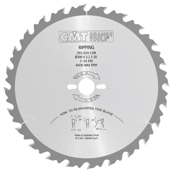 CMT ipari hasító körfűrészlap 300x30 Z24