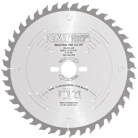 CMT körfűrészlap tömörfa és retegelt lemezhez vágására D=250-350 B=35