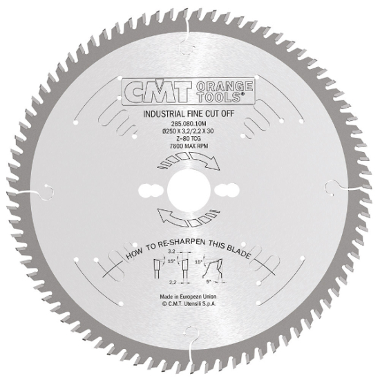 CMT ipari fűrésztárcsa finom vágáshoz 180x30 Z56