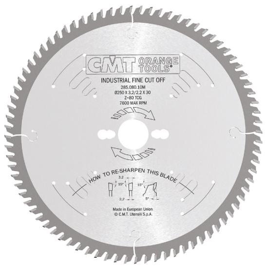 CMT Ipari fűrésztárcsa finom vágáshoz B=20