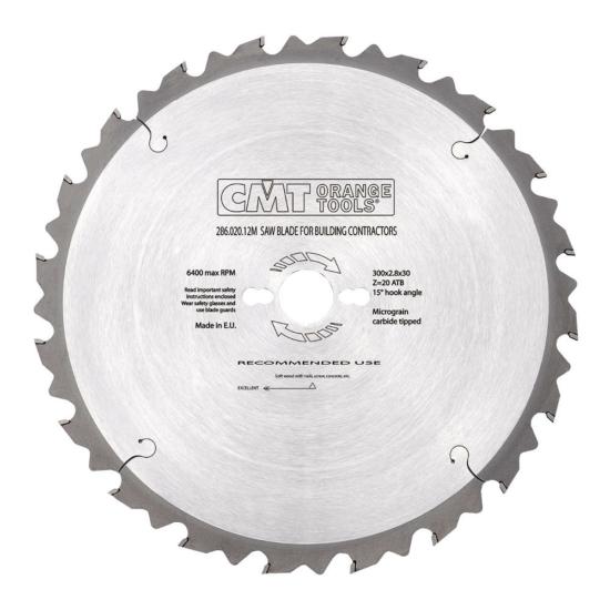 CMT Építőipari fűrésztárcsa 600x30 Z40
