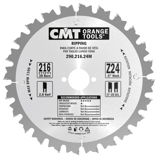 CMT Ipari hasító körfűrészlap 216x30 Z24