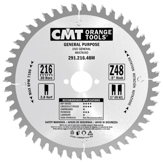 CMT Ipari, univerzális körfűrészlap 125x20 Z20