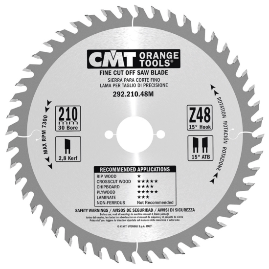 CMT ipari, precíz, keresztvágó körfűrész hordozható gépekhez