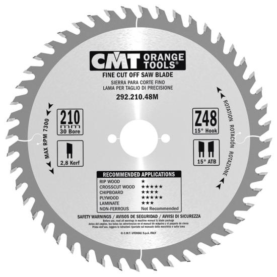 CMT Ipari, precíz, keresztvágó körfűrész hordozható gépekhez 200x30 Z48