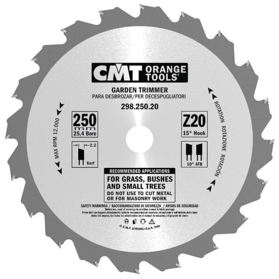 CMT Kerti bozótvágó fűrésztárcsa 250x25,4 Z20