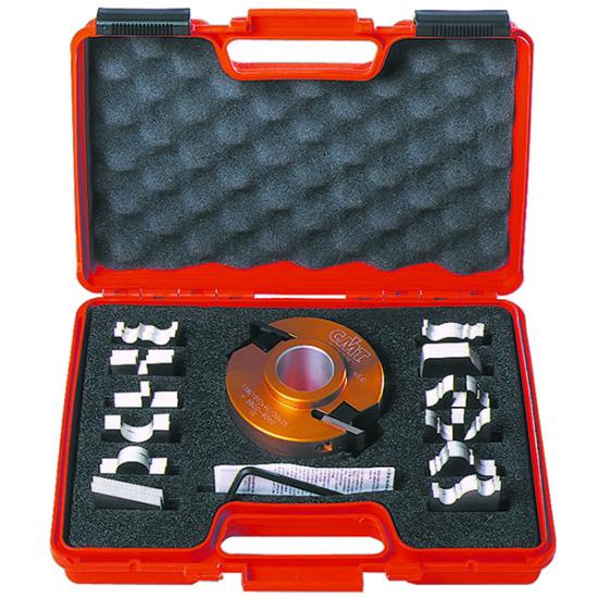 CMT 13 db-os cserelapkás marókészlet díszítő- profilozó lapkákkal