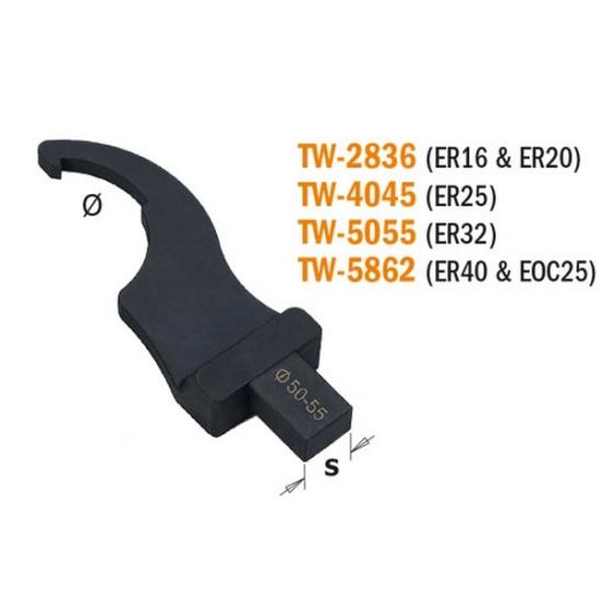 CMT kampóskulcs betét a TW-200 nyomatékkulcshoz, D=58-62mm