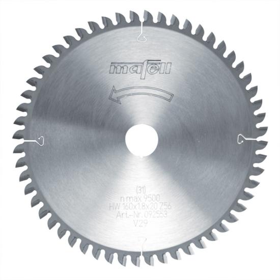 Mafell HM fűrészlap, 160x1,2/1,8x20 mm, 56 fog