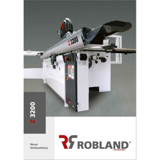 GÉPKÖNYV Robland Z3200-HOZ