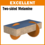 Kép 3/7 - CMT Ipari, gyémánt körfűrésztárcsa kétoldalas laminált bútorlaphoz, finom vágásokhoz 300x30 Z60