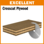 Kép 2/5 - CMT Ipari extrém, krómozott körfűrésztárcsa bútorlaphoz, finom vágásokhoz 300x30 Z72