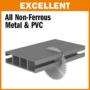Kép 3/3 - CMT ipari színesfém és műanyag vágó fűrésztárcsa 350x32 Z92