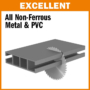 Kép 3/3 - CMT ipari színesfém és műanyag vágó fűrésztárcsa 450x30 Z108