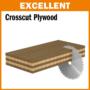 Kép 3/6 - CMT ipari, negatív, holkeres körfűrésztárcsa laminált bútorlaphoz, finom vágásokhoz