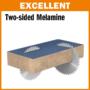 Kép 4/6 - CMT ipari, negatív, holkeres körfűrésztárcsa laminált bútorlaphoz, finom vágásokhoz