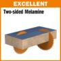 Kép 4/7 - CMT Ipari körfűrésztárcsa kétoldalas melamin bútorlaphoz, finom vágásokhoz D=250-350