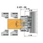 Kép 3/4 - Omas K422-30  beltéri ajtógyártó szerszám d=30 R3 52-72mm