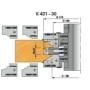 Kép 2/4 - Omas K421-30  beltéri ajtógyártó szerszám d=30 R3 52-72mm