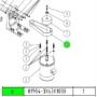 Kép 2/2 - Laposszíj Reignmac RMM 523UE gépek bal oldali függőleges tengelyéhez 63x3x1020 mm
